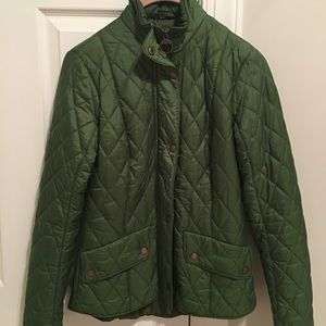 Barbour J Crew Spring Green Jacket. Sz4 Excellent